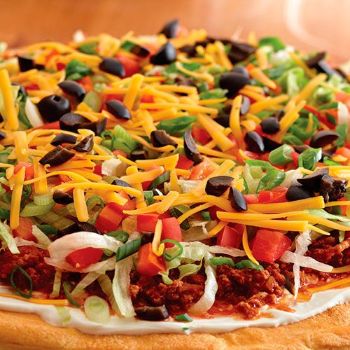 Mexican Fiesta Salad Pizza Recipes Pampered Chef