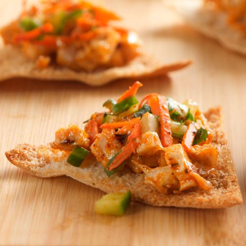 Moroccan Chicken Pita Wedges