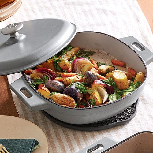 Pan Roasted Vegetables With Spinach Recipes Pampered Chef Canada