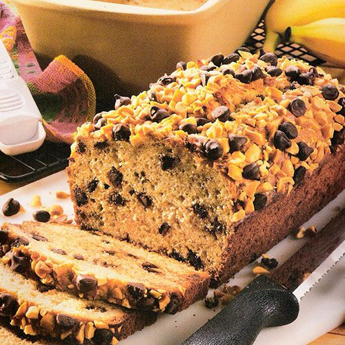 Peanutty Chocolate-Banana Bread