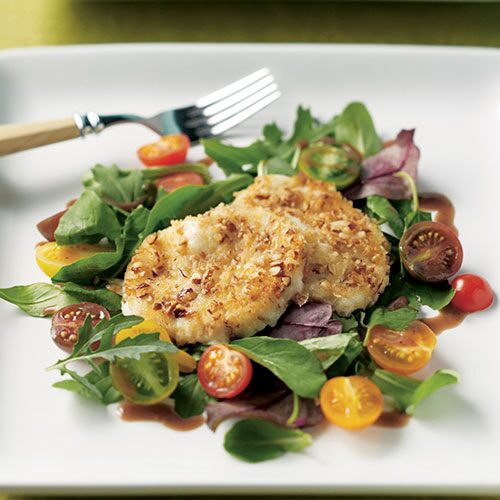 Pecan-Crusted Mozzarella Salad