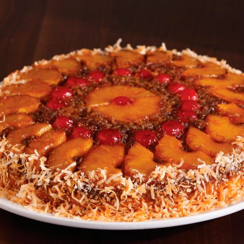 Pampered Chef Pineapple Upside Down Cake In  In Skillet