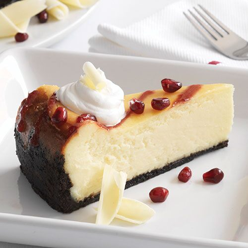 Pomegranate-White Chocolate Cheesecake