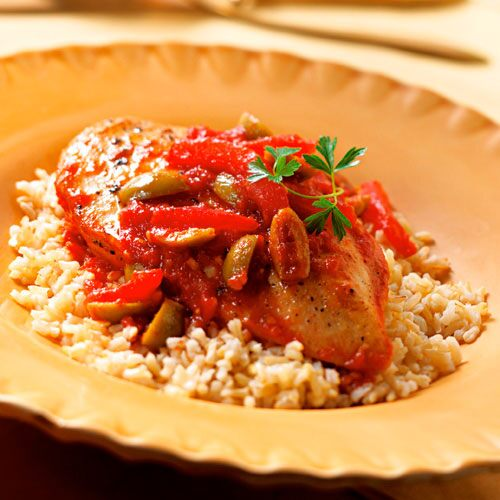 Provençal Chicken with Brown Rice