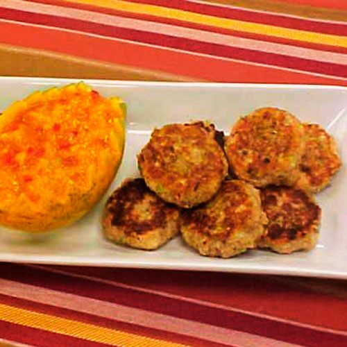 Salmon Cakes with Papaya Sauce