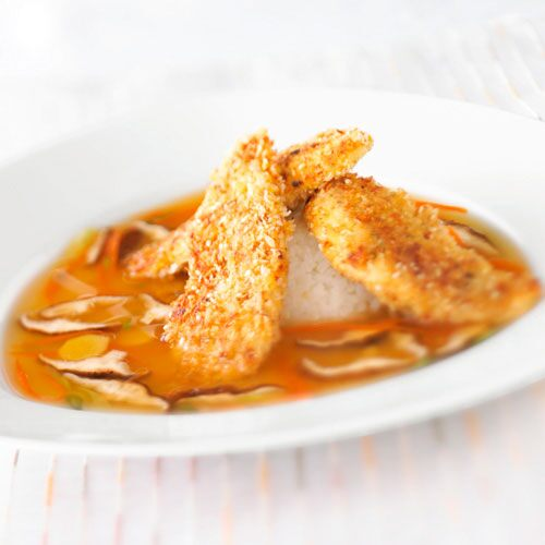 Sesame Tilapia with Shiitake Broth