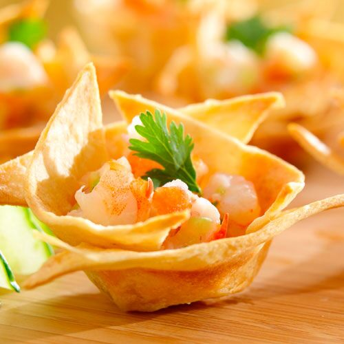 Spicy Shrimp Ceviche Cups