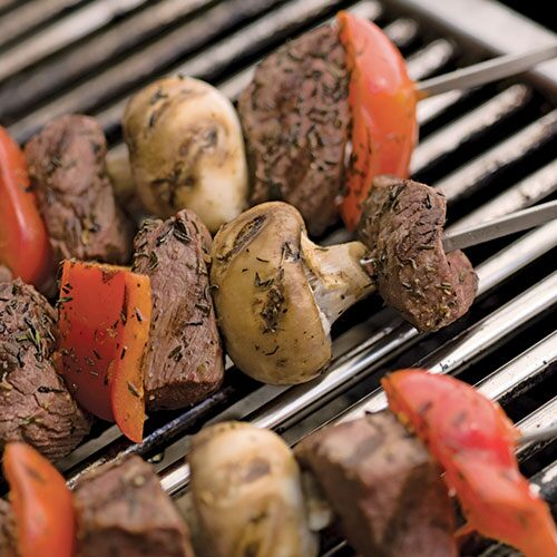 Steak and Mushroom Skewers