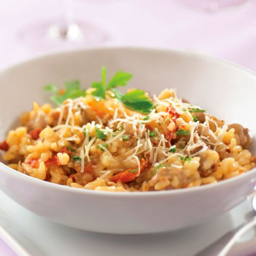 Sun-Dried Tomato & Sausage Risotto - Recipes | Pampered Chef Canada ...