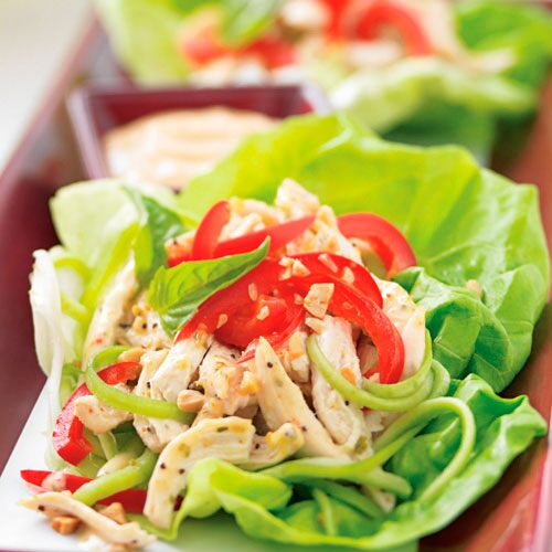 Thai Basil Chicken Lettuce Wraps