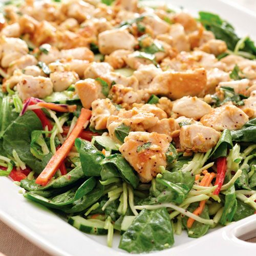 Thai Chicken Stir-Fry Salad