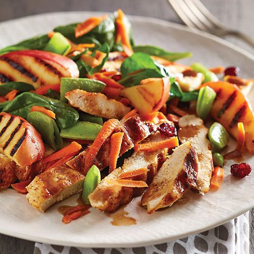 Grilled Apple & Spinach Salad