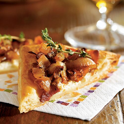 Three-Onion Goat Cheese Tart