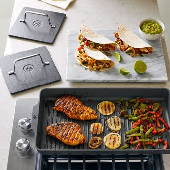 nonstick double burner grill